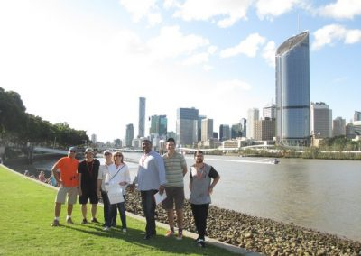 Brisbane Amazing Race City to Southbank happy participants
