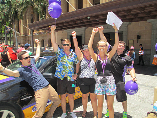 Purple Team during the Brisbane Amazing Race